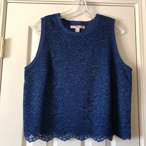 Forever 21 Navy blue lace top